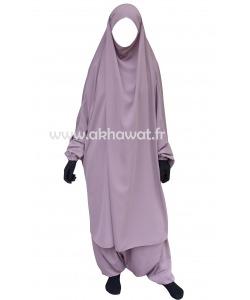 French Jilbab with harem pants - Light microfiber